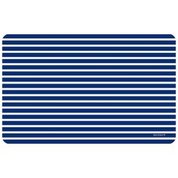 FoFlor Nantucket Navy Mat - Doormat, Runner, Area