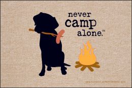 Never Camp Alone Doormat - 19x30 Funny