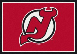 New Jersey Devils Spirit Area Rug - NHL Hockey Logo