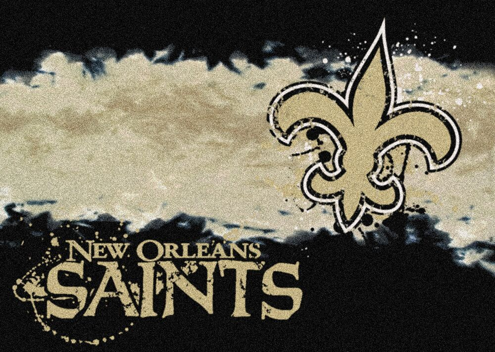 New Orleans Saints Fade Logo Area Rug Nfl Football Mat