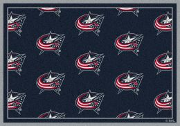 Columbus Blue Jackets Repeating Area Rug - Logo Mat