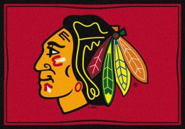 Chicago Blackhawks Spirit NHL Hockey Logo Area Rug