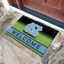 North Carolina University Flocked Rubber Doormat - 18 x 30