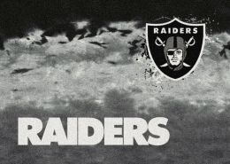 Oakland Raiders Fade Logo Area Rug - NFL Football Mat