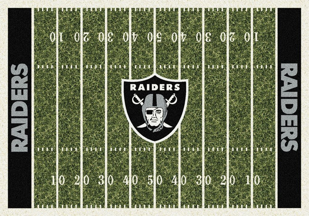 Oakland Raiders Home Field Area Rug Nfl Football Logo