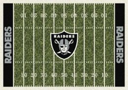 Oakland Raiders Home Field Area Rug - NFL Football Logo
