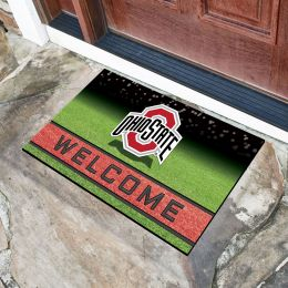 Ohio State University Flocked Rubber Doormat - 18 x 30
