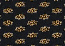 Oklahoma State University Repeat Logo Nylon Area Rug