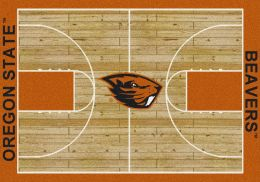 OSU Beavers Basketball Home Court Nylon Area Rug