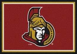 Ottawa Senators Spirit Area Rug - NHL Hockey Logo