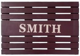 Personalized Painted Teak Wood Welcome Mat