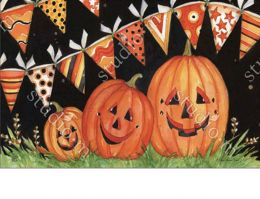 Indoor/Outdoor Party Time Pumpkins MatMate Insert Doormat
