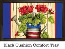 Indoor & Outdoor Patriotic Geranium Insert Doormat-18x30