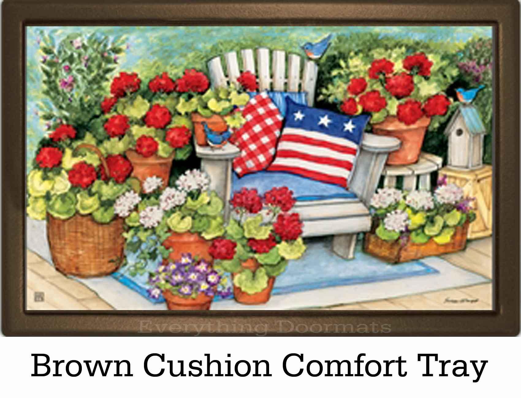 Indoor Amp Outdoor Patriotic Pillows Matmate Doormat 18x30