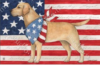 Indoor & Outdoor Patriotic Pup MatMate Doormat-18x30