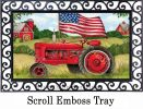 Indoor & Outdoor Patriotic Tractor MatMate Doormat-18x30