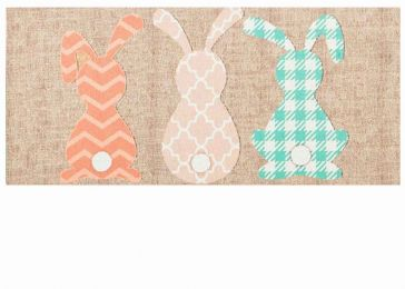 Sassafras Pattern Bunnies Burlap Switch Doormat - 10 x 22 Insert