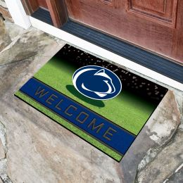 Penn State  University Flocked Rubber Doormat - 18 x 30