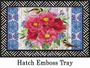 Hatch Embossed Peonies Bouquet Doormat - 19 x 30