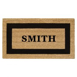 Personalized SuperScrpaer Black Framed Coir Doormat