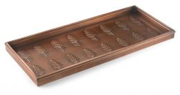 Embossed Pine Cones Copper Finished Boot Tray - 34x14x2.5