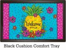 Indoor & Outdoor Pineapple Flowers Insert Doormat-18x30