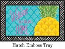 Indoor & Outdoor Pineapple Welcome Home Insert Doormat