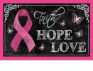 "Indoor & Outdoor Pink Ribbon Insert Doormat - 18"" x 30"""