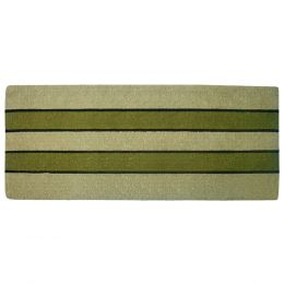 Pistachio Striped Heavy Duty Coco Coir Doormat - 24x57