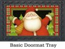 Indoor & Outdoor Plaid Santa MatMates Doormat - 18 x 30