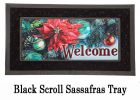 Sassafras Poinsettia Reflections Switch Insert Doormat - 10x22