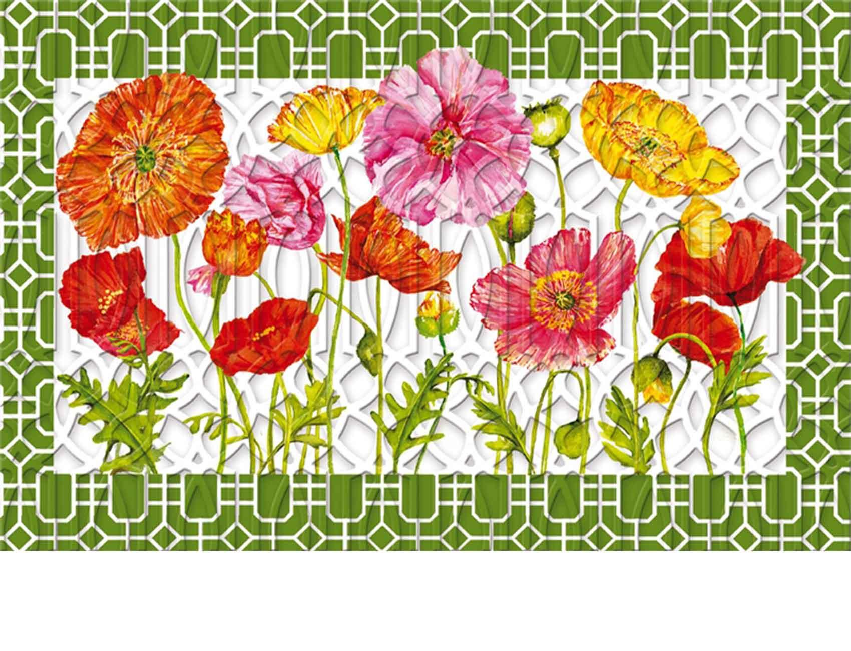 sc 1 st  Everything Doormats & Trellis Embossed Poppy Garden Doormat - 19 x 30