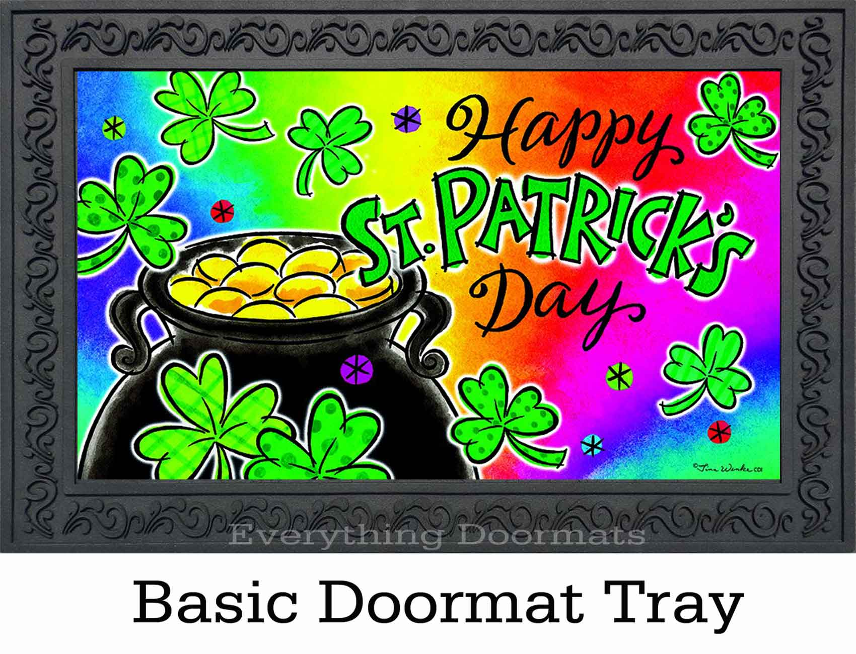Indoor Amp Outdoor Pot Of Gold Insert Doormat 18 X 30