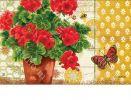 Indoor & Outdoor Potted Geraniums MatMate Doormat-18x30