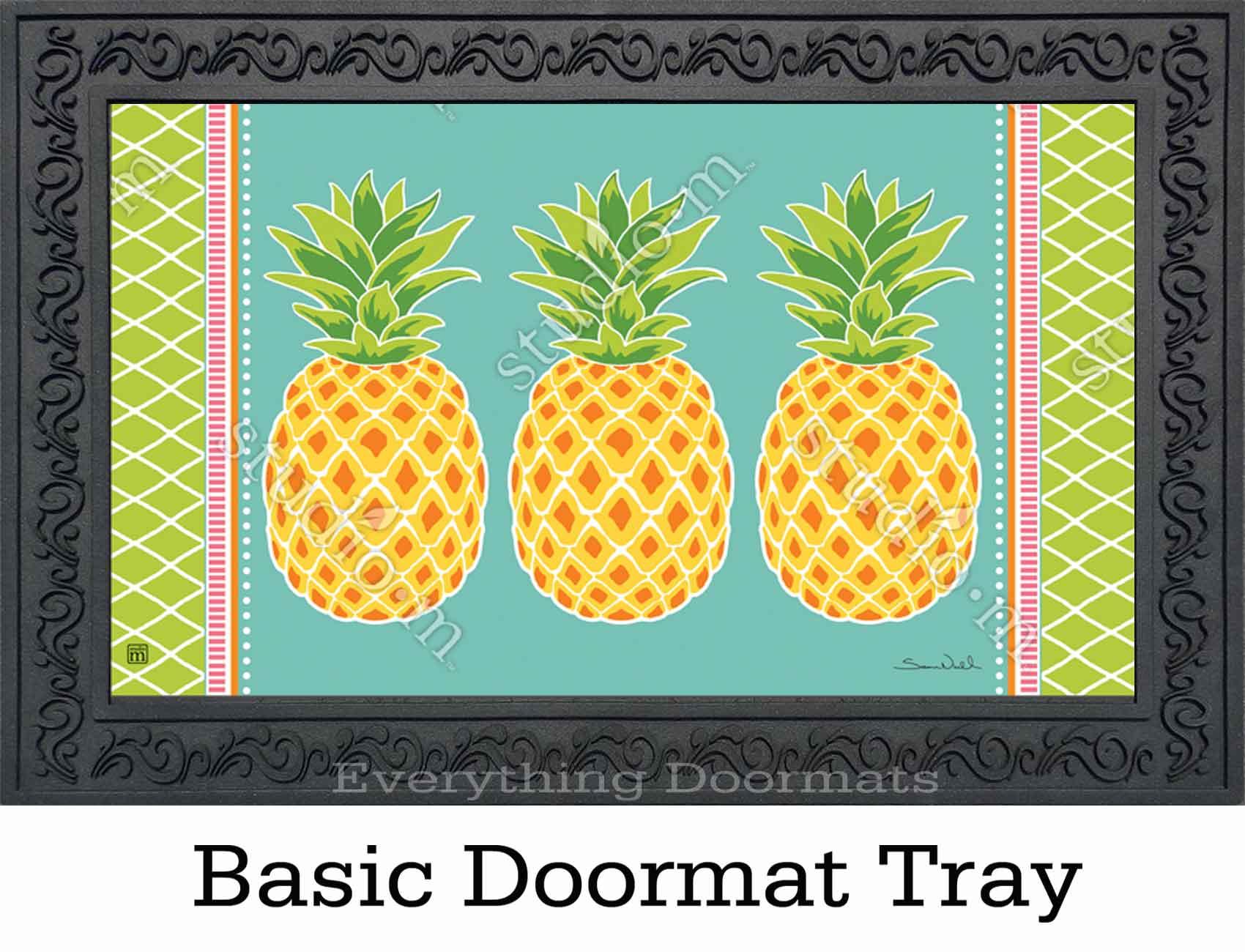 Indoor Amp Outdoor Preppy Pineapple Matmate Doormat 18x30