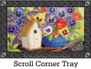 Indoor & Outdoor Pretty Pansy & Birdhouse MatMate Doormat