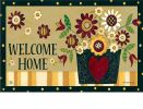 Indoor & Outdoor Primitve Posies MatMate Doormat-18x30