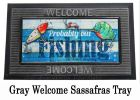 Sassafras Probably Out Fishing Mat - 10 x 22 Insert Doormat