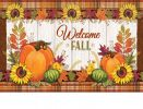 Indoor & Outdoor Pumpkin & Plaid Insert Doormat - 18x30