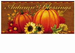 Sassafras Pumpkin & Sunflower Switch Insert Doormat - 10 x 22