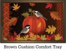Indoor & Outdoor Pumpkin Chickadees Insert Doormat - 18x30