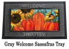 Sassafras Pumpkin Switch Insert Doormat - 10 x 22