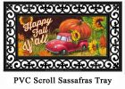 Sassafras Pumpkin Truck Switch Doormat - 10 x 22