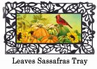 Sassafras Pumpkin Wheelbarrow Switch Doormat - 10 x 22