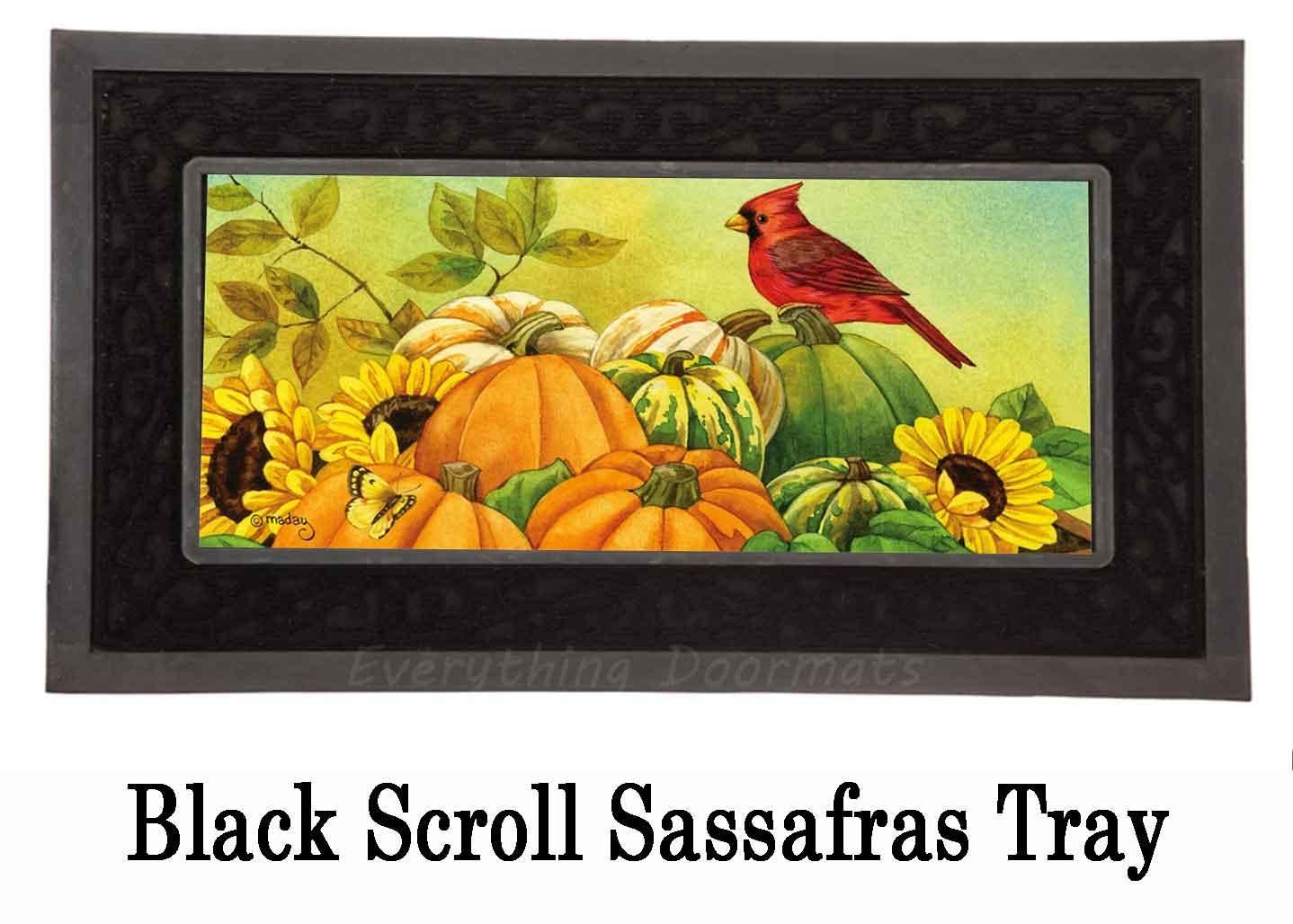 Sassafras Pumpkin Wheelbarrow Switch Doormat 10 X 22