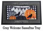 Pumpkins and Crows Sassafras Mat - 10 x 22 Insert Doormat