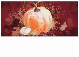 Sassafras Pumpkin with Leaves Switch Insert Doormat - 10 x 22