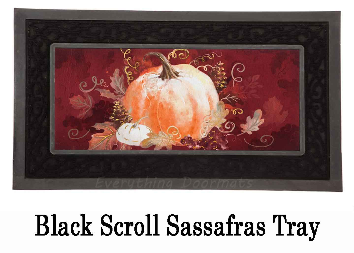 Sassafras Pumpkin With Leaves Switch Insert Doormat 10 X 22
