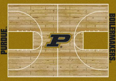 Purdue Boilermakers Basketball Home Court Nylon Area Rug