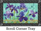 Indoor & Outdoor Purple Iris MatMate Doormat-18x30